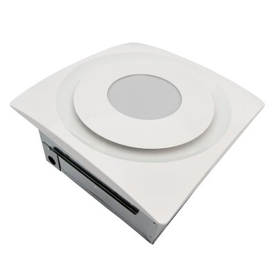 SlimFit 120 CFM Bathroom Fan with Light and Sensor Finish: True White