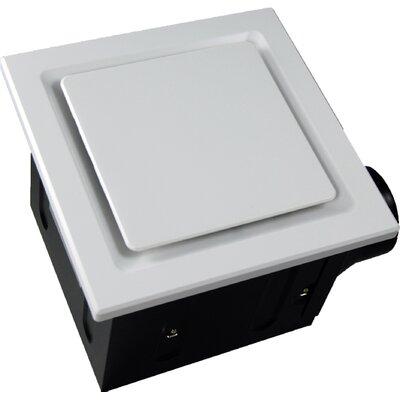 Super Quiet 110 CFM Bathroom Ventilation Fan Finish: White