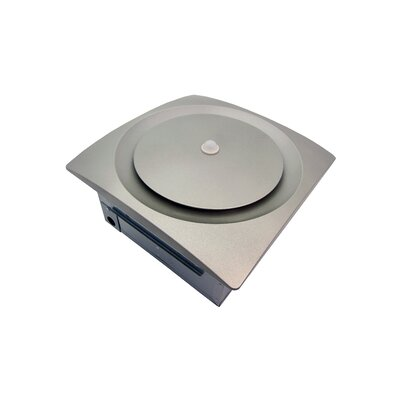 Continuous Run Energy Star Bathroom Fan with Moisture and Motion Sensor Finish: Satin Nickel