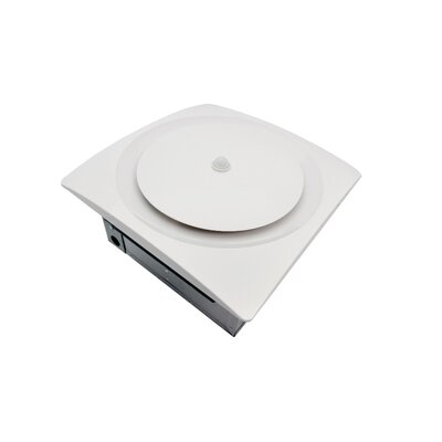 Continuous Run Energy Star Bathroom Fan with Moisture and Motion Sensor Finish: White