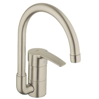 Eurostyle Single Handle Single Hole Standard Kitchen Faucet Finish: Brushed Nickel