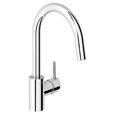 Concetto Single Handle Single Hole Standard Kitchen Faucet Finish: Starlight Chrome