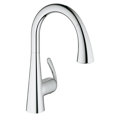 Ladylux Single Handle Single Hole Kitchen Faucet Finish: Chrome