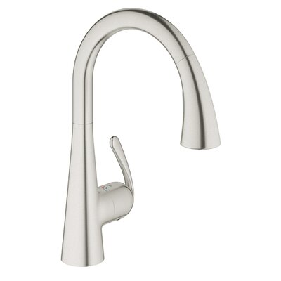 Ladylux Single Handle Single Hole Kitchen Faucet Finish: Stainless Steel