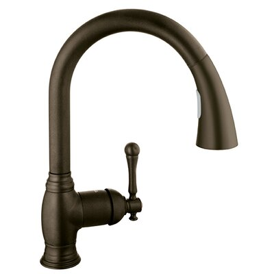 Bridgeford Single Handle Deck Mount Kitchen Sink Faucet Finish: Oil Rubbed Bronze