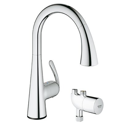 LadyLux3 Touchless Single Handle Single Hole Kitchen Faucet with Grohtherm Micro Finish: Chrome