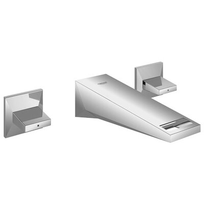 Allure Brilliant Double Handle Wall Mount Bathroom Faucet