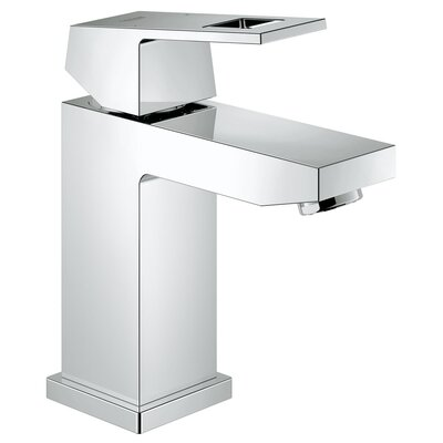 Eurocube Centerset Single Hole Bathroom Faucet Optional Accessory: Without Drain