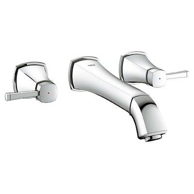 Grandera Widespread Bathroom Sink Faucet Double Handle Finish: Chrome