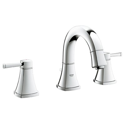 Grandera Bathroom Sink Faucet Double Handle with Drain Assembly Finish: Chrome