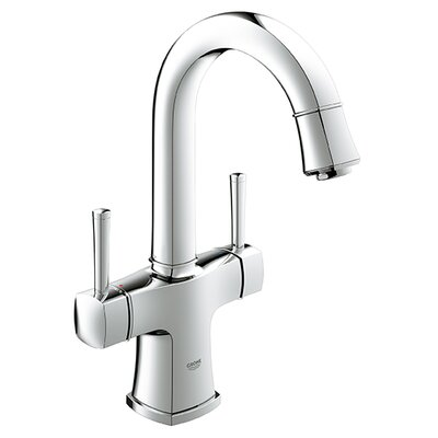 Grandera Single Hole Bathroom Sink Faucet Double Handle with Drain Assembly Finish: Chrome