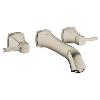 Grandera Widespread Bathroom Sink Faucet Double Handle Finish: Brushed Nickel