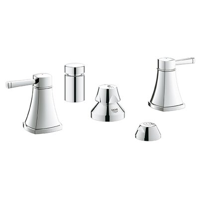 Grandera Double Handle Horizontal Bidet Faucet Finish: Chrome