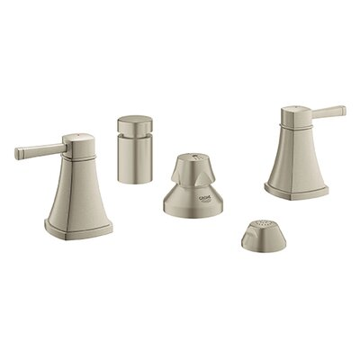 Grandera Double Handle Horizontal Bidet Faucet Finish: Brushed Nickel