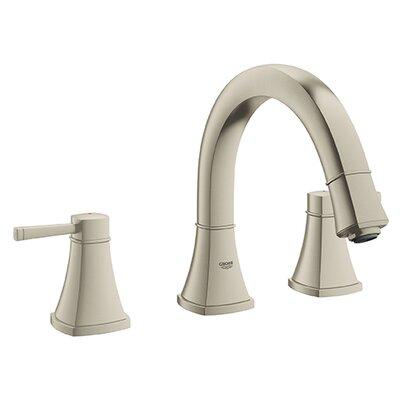 Grandera Double Handle Widespread Bathroom Faucet Finish: Brushed Nickel