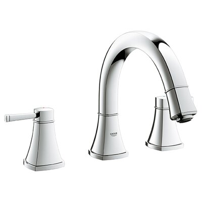 Grandera Double Handle Widespread Bathroom Faucet Finish: Chrome
