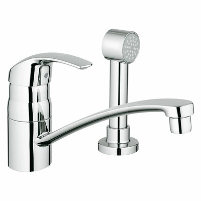 Eurosmart Single Handle Deck Mount Kitchen Faucet with Side Spray Side Spray: With Spray
