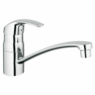 Eurosmart Single Handle Deck Mount Kitchen Faucet with Side Spray Side Spray: Without Spray