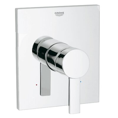 Allure Pressure Balance Valve Faucet Trim with Lever Handle Finish: Chrome