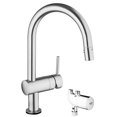 Minta Touchless Single Handle Single Hole Kitchen Faucet with Grohtherm Micro Finish: Supersteel