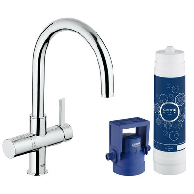 Single Handle Pure Water System Sink Faucet Finish: Chrome