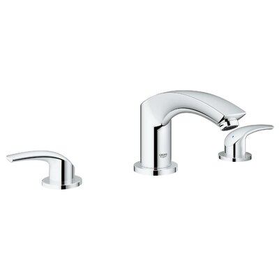 New Eurosmart 3 Hole 2 Handle Deck Mounted Bath Mixer Finish: Chrome