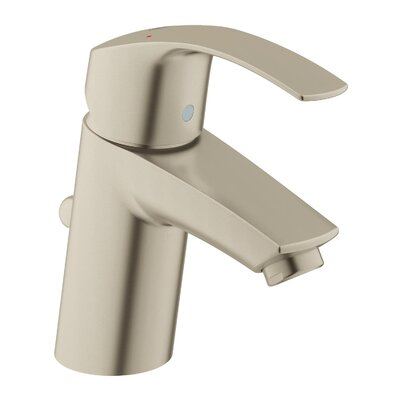 New Eurosmart Single Handle Centerset Faucet with Pop Up Drain Finish: Brushed Nickel