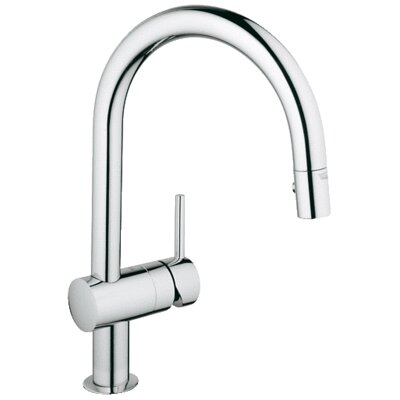 Minta Single Handle Single Hole Bathroom Faucet Finish: Chrome