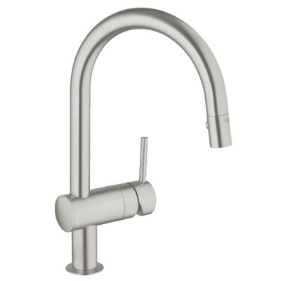 Minta Single Handle Single Hole Bathroom Faucet Finish: Supersteel