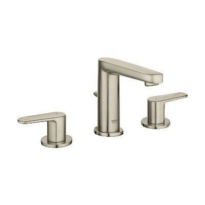 Europlus Double Handle Bathroom Faucet Finish: Brushed Nickel
