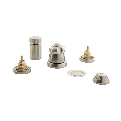Talia Vertical Spray Bidet Faucet, Less Handles Finish: Brushed Nickel