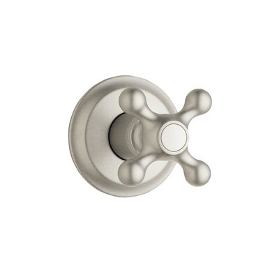 Seabury Volume Control Faucet Shower Faucet Trim Only with Cross Handle Finish: Brushed Nickel