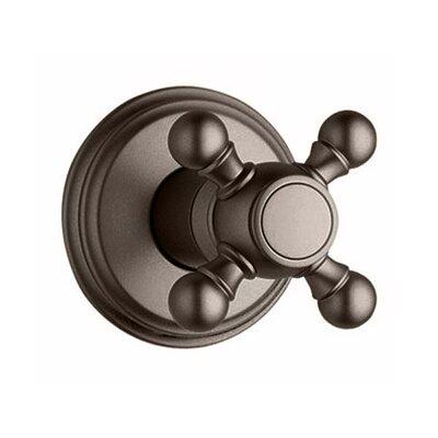 Geneva Volume Control Shower Faucet Trim with Cross Handle Finish: Oil Rubbed Bronze
