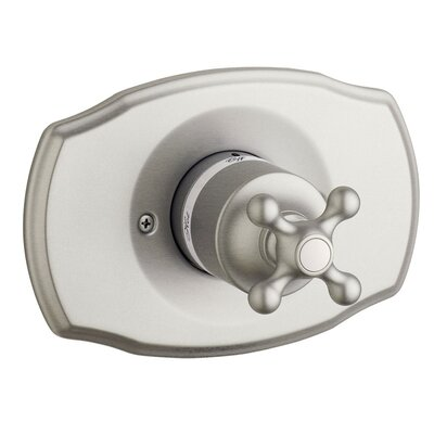 Seabury Pressure Balance Shower Faucet Trim with Cross Handle Finish: Brushed Nickel