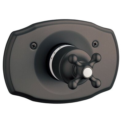 Seabury Thermostatic Faucet Trim with Cross Handle Finish: Oil Rubbed Bronze