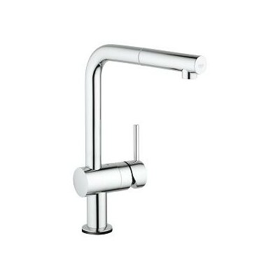 Minta Single Handle Deck Mount Kitchen Faucet with Pull Out Spray Finish: Chrome