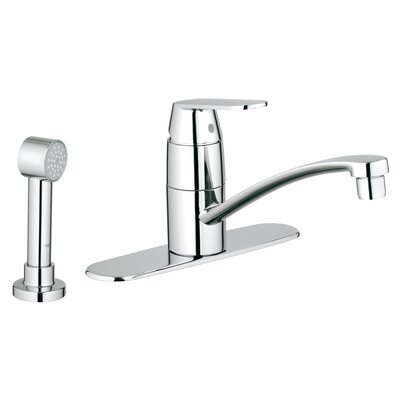 Eurosmart Cosmopolitan Single Handle Deck Mount Centerset Kitchen Faucet with Side Spray