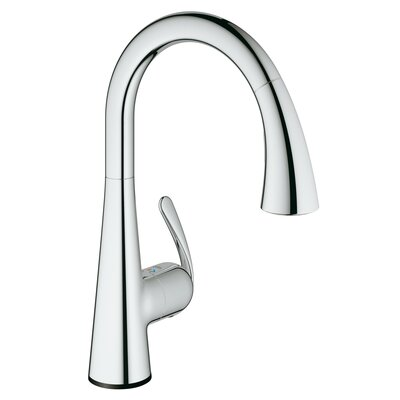 Ladylux Single Handle Deck Mount Kitchen Faucet with Dual Spray Pull Down Finish: StarLight Chrome