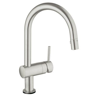 Minta Single Handle Deck Mount Kitchen Faucet with Dual Spray Pull Down Finish: SuperSteel InfinityFinish