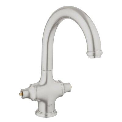 Bridgeford Single Hole Standard Kitchen Faucet Less Handles Finish: Supersteel