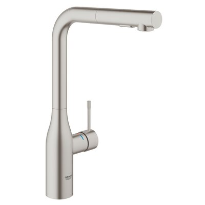 Essence New Single Handle Deck Mount Kitchen Faucet with Dual Spray Pull Out Finish: SuperSteel Infinity