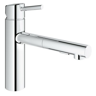 Concetto Single Handle Deck Mount Kitchen Faucet with Dual Spray Pull Out Finish: StarLight Chrome 31453001