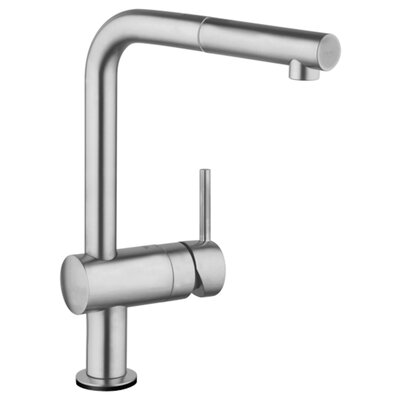 Minta Single Handle Kitchen Faucet with Side Spray Finish: SuperSteel InfinityFinish