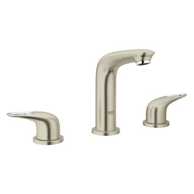 Eurostyle Bathroom Sink Faucet Double Handle Finish: Brushed Nickel Infinity