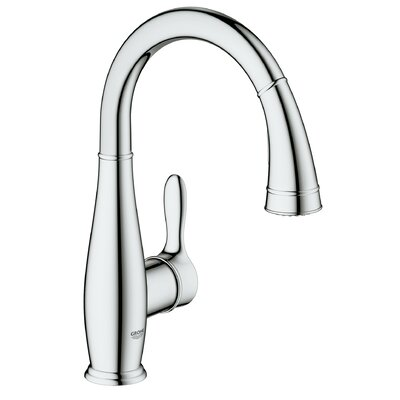 Parkfield Single Handle Deck Mount Kitchen Faucet with Dual Spray Pull Down Finish: StarLight Chrome