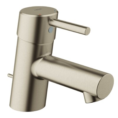 Concetto Single Hole Single Handle Bathroom Faucet with Drain Assembly Finish: Brushed Nickel