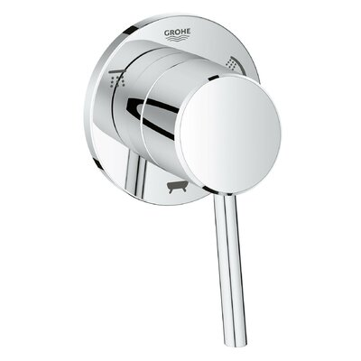 Concetto Single Handle 3-Way Diverter Shower Faucet Trim Only Finish: StarLight Chrome
