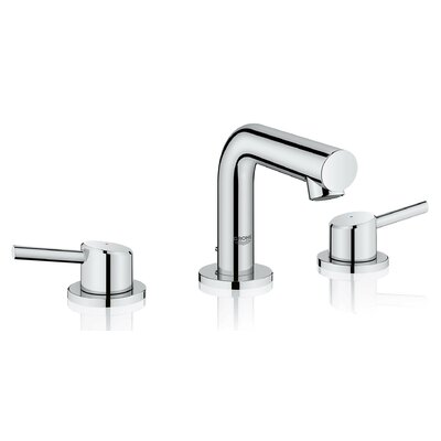 Concetto Mid-Arc Widespread Double Handle Bathroom Faucet Finish: StarLight Chrome