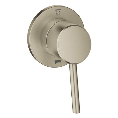 Concetto Single Handle 3-Way Diverter Shower Faucet Trim Only Finish: Brushed Nickel