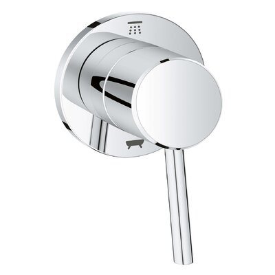 Concetto Single Handle Diverter Shower Faucet Trim Only Finish: StarLight Chrome